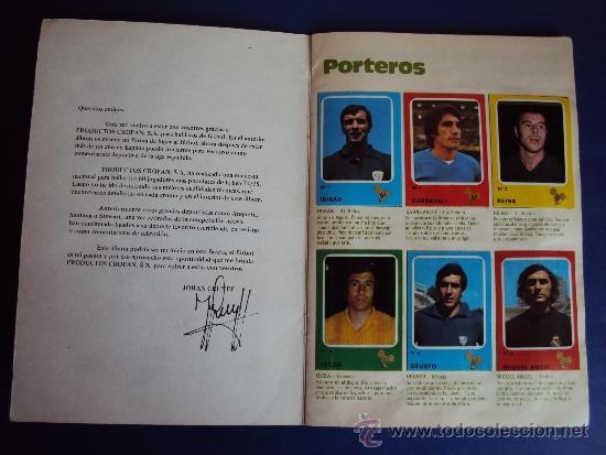 Álbum de fútbol completo: (AL-638)ALBUM CROMOS CRUYFF Y LOS COLOSOS DE ESTA LIGA DE CROPAN(COMPLETO) - Foto 2 - 38170404