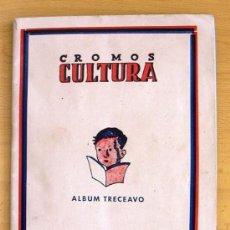 Álbum de fútbol completo: CROMOS CULTURA ALBUM TRECEAVO - EDITORIAL BRUGUERA 1942 - VER FOTOS INTERIORES. Lote 39008365