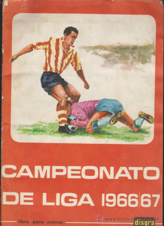 CAMPEONATO DE LIGA 1966/67. DISGRA (FHER). COMPLETO. (Coleccionismo Deportivo - Álbumes y Cromos de Deportes - Álbumes de Fútbol Completos)