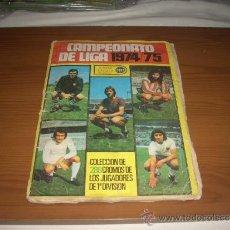 Álbum de fútbol completo: ALBUM DE LA LIGA 1974-75 DE CHICLES SAMBER CON TODA LA COLECCION. Lote 39273557