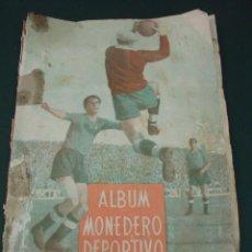Álbum de fútbol completo: ALBUM MONEDERO DEPORTIVO INFANTIL. Lote 39500858