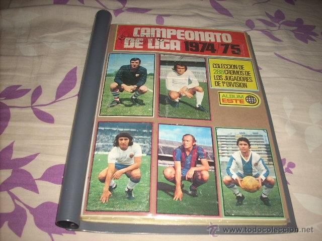 COLECCION COMPLETA EN FICHERO DE LA LIGA 1974-75 DE ESTE (Coleccionismo Deportivo - Álbumes y Cromos de Deportes - Álbumes de Fútbol Completos)