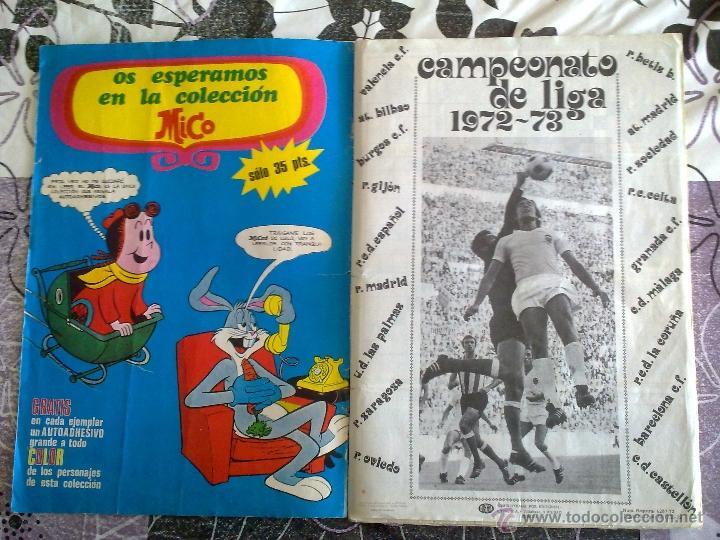 Álbum de fútbol completo: Álbum de Fútbol Fher Disgra 1972 1973 temporada 72 73 con todo lo editado! Poster Central Completo! - Foto 2 - 40118086