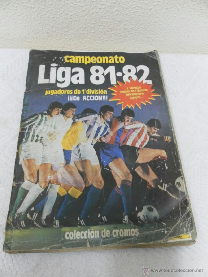 ÁLBUM DE CROMOS. CAMPEONATO DE FUTBOL. LIGA 81/ 82. COMPLETO (Coleccionismo Deportivo - Álbumes y Cromos de Deportes - Álbumes de Fútbol Completos)