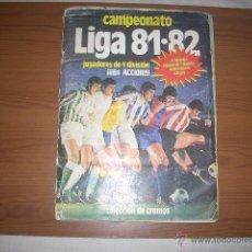 Álbum de fútbol completo: ALBUM DE LA LIGA 1981-82 DEE STE COMPLETO Y CON MUCHOS DOBLES. Lote 40782745
