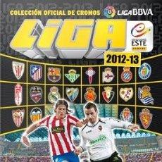 Álbum de fútbol completo: ESTE 12/13 COLECCION COMPLETA SIN PEGAR + ALBUM ERROR BORJA+ UF INVIERNO. Lote 41346830