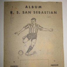Álbum de fútbol completo: R.S.SAN SEBASTIAN - ALBUM COMPLETO - EDITORIAL VALENCIANA -(ALB- 58). Lote 41386880