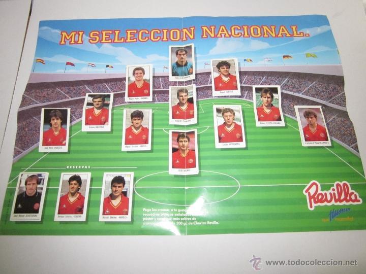 POSTER MI SELECCION NACIONAL- MAS TRES CROMOS SUELTOS- PUBLICIDAD CHORIZO REVILLA - (ALB -75) (Coleccionismo Deportivo - Álbumes y Cromos de Deportes - Álbumes de Fútbol Completos)