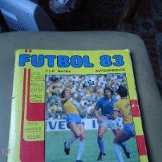 Álbum de fútbol completo: ALBUM EDICIONES PANINI FUTBOL 83 INCOMPLETO. Lote 41571577