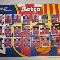 Álbum de fútbol completo: ALBUM POSTER BARÇA TEMPORADA 96-97 - COMPLETO - PANRICO - (ALB- 75). Lote 41640621