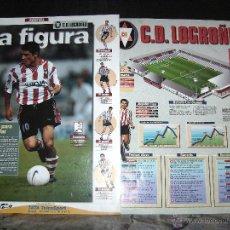 Álbum de fútbol completo: ESTRELLAS DE LA LIGA , INTERVIU EL ALBUM SUELTAS EL EQUIPO, C.D. LOGROÑES. Lote 41806509