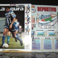 Álbum de fútbol completo: ESTRELLAS DE LA LIGA , INTERVIU EL ALBUM SUELTAS EL EQUIPO, DEPORTIVO. Lote 41807325