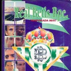 Álbum de fútbol completo: ALBUM COMPLETO REAL BETIS BALOMPIE, 1996-1997. Lote 42396196