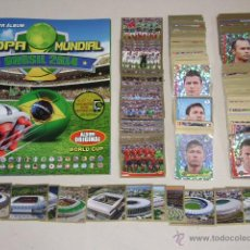 Álbum de fútbol completo: ALBUM COPA MUNDIAL BRASIL 2014 NAVARRETE - 100 % COMPLETO. Lote 145098668