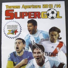 Álbum de fútbol completo: ALBUM DE CROMOS FUTBOL ARGENTINO SUPERGOL 2013-14 - 100% COMPLETO. Lote 42765451