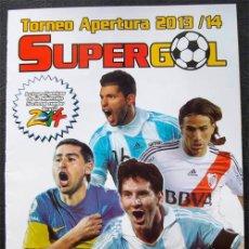 Álbum de fútbol completo: ALBUM DE CROMOS FUTBOL ARGENTINO SUPERGOL 2013-14 - 100% COMPLETO A PEGAR. Lote 42765457