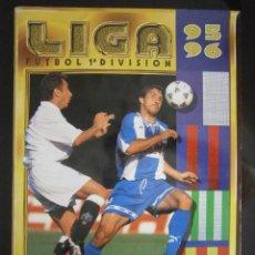 Álbum de fútbol completo: ALBUM FUTBOL LIGA 95-96 COMPLETO EDICIONES ESTE A FALTA DE 6 CROMOS. Lote 43101139