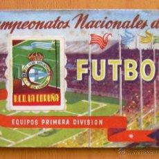 Álbum de fútbol completo: DEPORTIVO LA CORUÑA - RUIZ ROMERO LIGA 1950-1951, 50-51 - CON 18 CROMOS. Lote 43484104