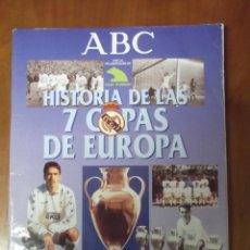 Álbum de fútbol completo: ALBUM CROMOS ABC / REAL MADRID 7 COPAS EUROPA. Lote 43647532