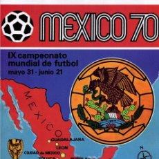 Álbum de fútbol completo: PANINI COPA DEL MUNDO MEXICO 1970 REPRODUCCION ALBUM CROMOS COMPLETO IMPECABLE. Lote 43861059