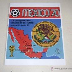 Álbum de fútbol completo: COPA MUNDIAL MEXICO 70 PANINI - OFFICIAL ALBUM REPRINT - 100% COMPLETO. Lote 165778301