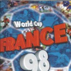 Álbum de fútbol completo: 3743A- ALBUM COMPLETO FRANCE 98 WORLD CUP. Lote 44177810