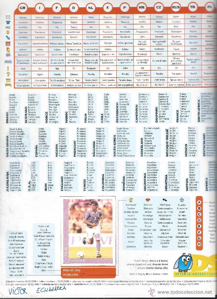 Álbum de fútbol completo: 3743A- ALBUM COMPLETO FRANCE 98 WORLD CUP - Foto 2 - 44177810