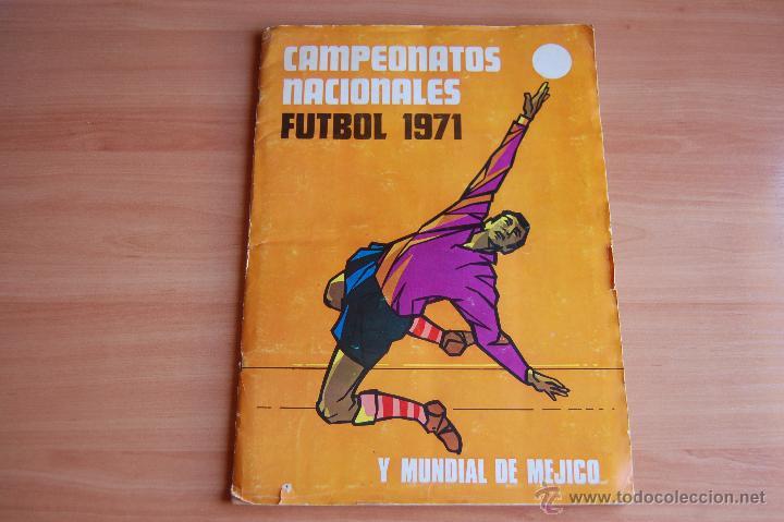 ALBUM CROMOS COMPLETO+ 9 DOBLES +RAREZA CAMPEONATOS NACIONALES DE FUTBOL 1970-1971 70-71 RUIZ ROMERO (Coleccionismo Deportivo - Álbumes y Cromos de Deportes - Álbumes de Fútbol Completos)