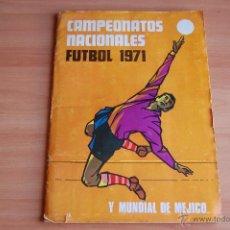 Álbum de fútbol completo: ALBUM CROMOS COMPLETO+ 9 DOBLES +RAREZA CAMPEONATOS NACIONALES DE FUTBOL 1970-1971 70-71 RUIZ ROMERO. Lote 44478580