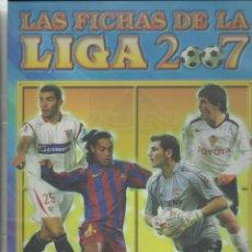 Álbum de fútbol completo: ALBUM DE LAS FICHAS DE LA LIGA DE 2007 CON 654 CROMOS. Lote 45374077