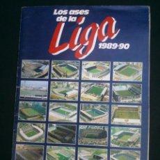 Álbum de fútbol completo: ALBUM FUTBOL LOS ASES DE LA LIGA 89 90 COMPLETO DE AS. Lote 45341467