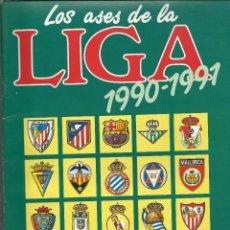 Álbum de fútbol completo: ALBUM COMPLETO DE LOS ASES DE LA LIGA 90/91 . Lote 45762557