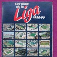 Álbum de fútbol completo: ALBUM FUTBOL, LOS ASES DE LA LIGA 1989-90, OBSEQUIO DE AS, COMPLETO, C. Lote 45948545