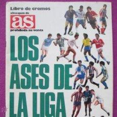Álbum de fútbol completo: ALBUM FUTBOL, LOS ASES DE LA LIGA 1987-88, OBSEQUIO DE AS, COMPLETO, B. Lote 45948635