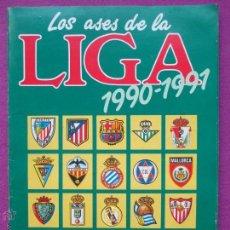 Álbum de fútbol completo: ALBUM FUTBOL, LOS ASES DE LA LIGA 1990-91, OBSEQUIO DE AS, COMPLETO, EN EL INTERIOR REVISTA AS COLOR. Lote 45952278