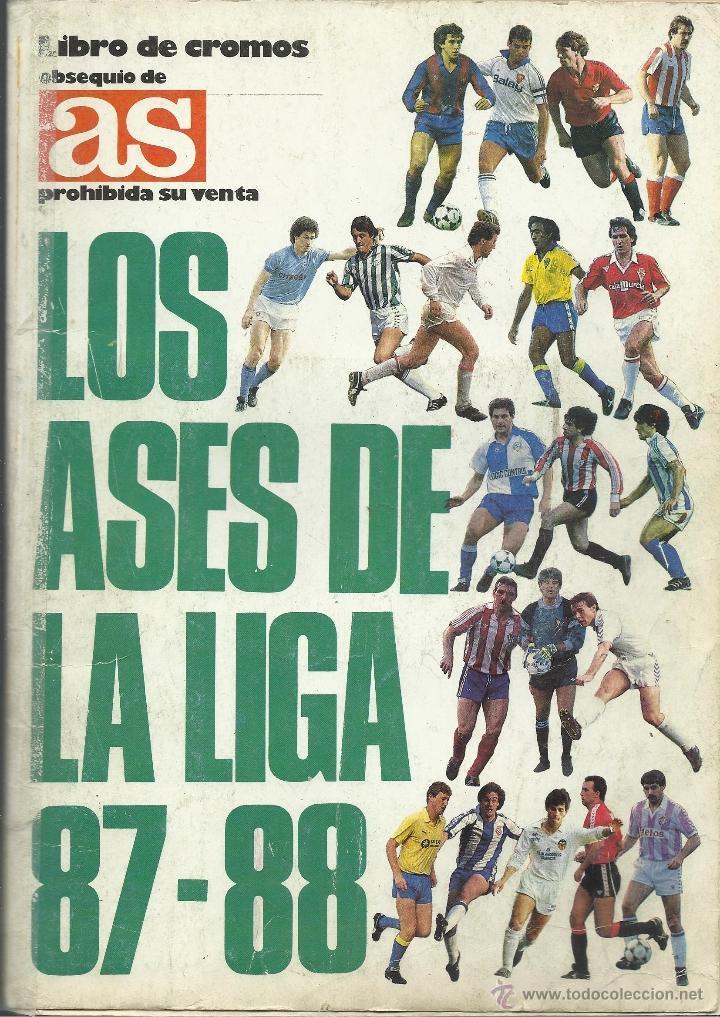ALBUM COMPLETO DE LOS ASES DE LA LIGA 87/88 (Coleccionismo Deportivo - Álbumes y Cromos de Deportes - Álbumes de Fútbol Completos)