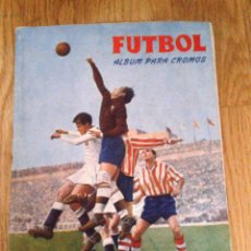 Álbum de fútbol completo: ALBUM PARA CROMOS FÚTBOL, 1956 - 1957, 56 - 57 - GRÁFICAS BRASIL - COMPLETO. Lote 47709300