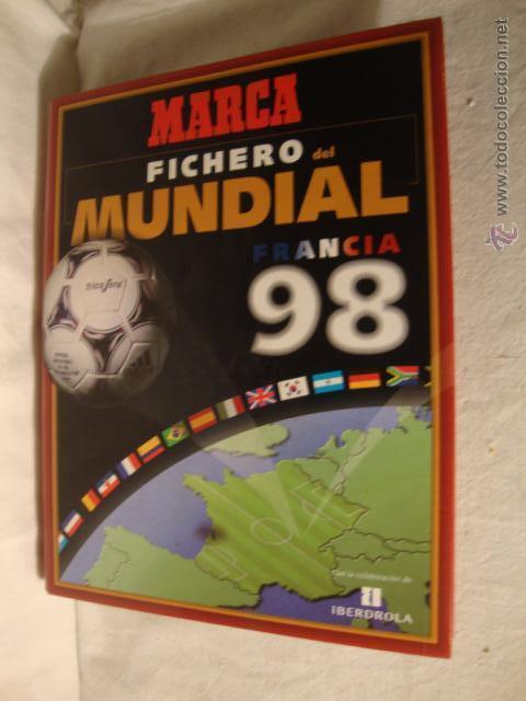 FUTBOL FICHERO DEL MUNDIAL FRANCIA 1998 - ARCHIVADOR MARCA 1998 - HISTORIA COMPLETO (Coleccionismo Deportivo - Álbumes y Cromos de Deportes - Álbumes de Fútbol Completos)