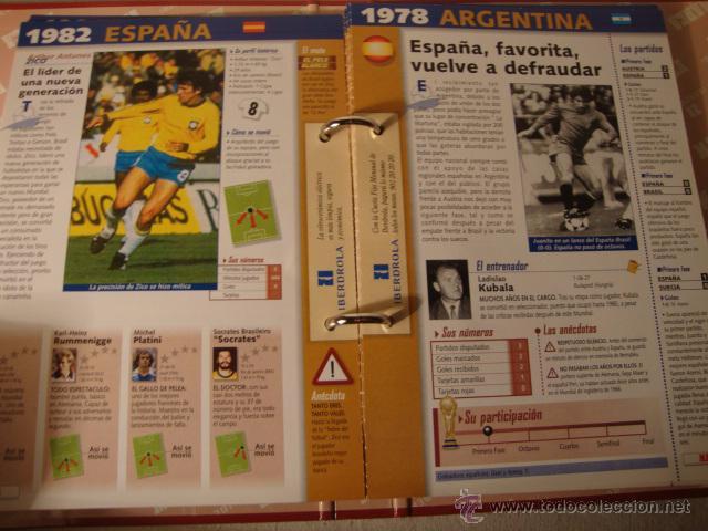 Álbum de fútbol completo: FUTBOL FICHERO DEL MUNDIAL FRANCIA 1998 - Archivador Marca 1998 - Historia COMPLETO - Foto 2 - 49142901