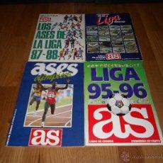 Álbum de fútbol completo: LOS ASES DE LA LIGA 1987 1988 1989 1990 1995 1996 Y ASES OLIMPICOS COMPLETO DIARIO AS BUEN ESTADO. Lote 49664455