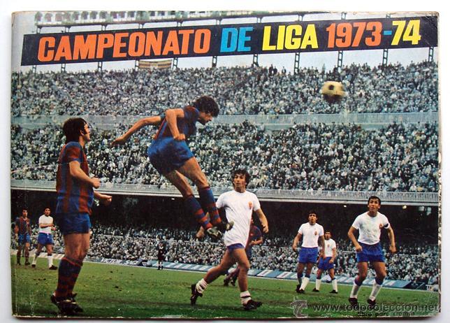 ALBUM 1973 1974 FHER DISGRA CAMPEONATO LIGA 73 74 CON POSTER COMPLETO. EXCELENTE ESTADO (Coleccionismo Deportivo - Álbumes y Cromos de Deportes - Álbumes de Fútbol Completos)