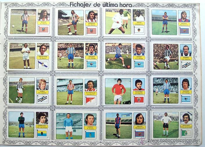 Álbum de fútbol completo: album 1973 1974 Fher Disgra Campeonato Liga 73 74 Con Poster completo. Excelente estado - Foto 8 - 49749534