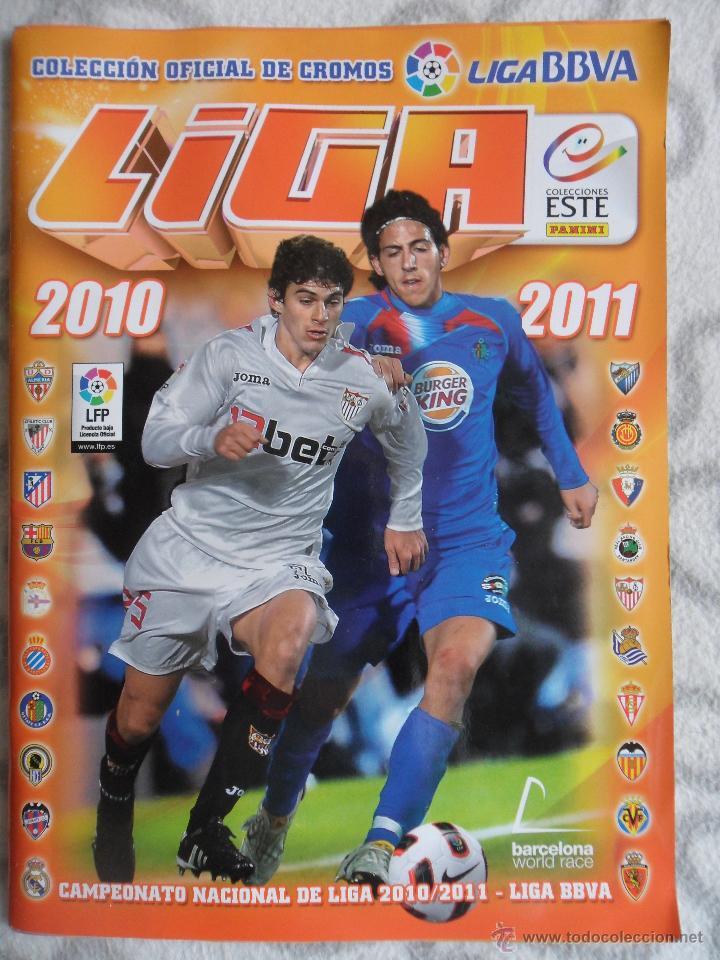 LIGA 2010 2011. COLECCION OFICIAL DE CROMOS. LIGA BBVA. CAMPEONATO NACIONAL DE LIGA 2010/2011. FUTBO (Coleccionismo Deportivo - Álbumes y Cromos de Deportes - Álbumes de Fútbol Completos)