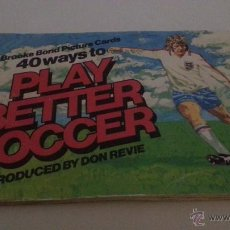 Álbum de fútbol completo: PLAY BETTER SOCCER BY DON REVIE COMPLETO TEA BAGS AÑO 76. Lote 50764932