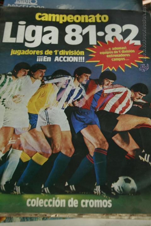CAMPEONATO LIGA 81-82 EDICIONES ESTE , ORIGINAL , COMPLETO, CASI COMO NUEVO (Coleccionismo Deportivo - Álbumes y Cromos de Deportes - Álbumes de Fútbol Completos)