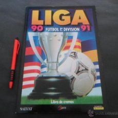 Álbum de fútbol completo: ÁLBUM DE CROMOS DE FÚTBOL COMPLETO ~ LIGA 1990/91 SALVAT ~ PANINI ~ EDICIONES ESTE ~EDICION FACSIMIL. Lote 50888940