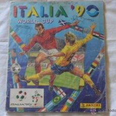 Álbum de fútbol completo: ALBUM CROMOS COMPLETO PANINI WORLD CUP ITALIA 90. Lote 51060153