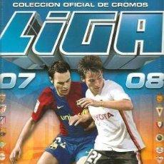 Álbum de fútbol completo: ALBUM DE CROMOS COMPLETO PEGADO ESTE 2007-08. Lote 51143714