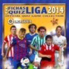 Álbum de fútbol completo: ALBUM ARCHIVADOR COMPLETO MUNDICROMO QUIZ GAME 2014. Lote 51144337