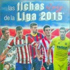 Álbum de fútbol completo: ALBUM DE CROMOS CARDS QUIZ LIGA 2015 MUNDICROMO COMPLETO. Lote 134040855